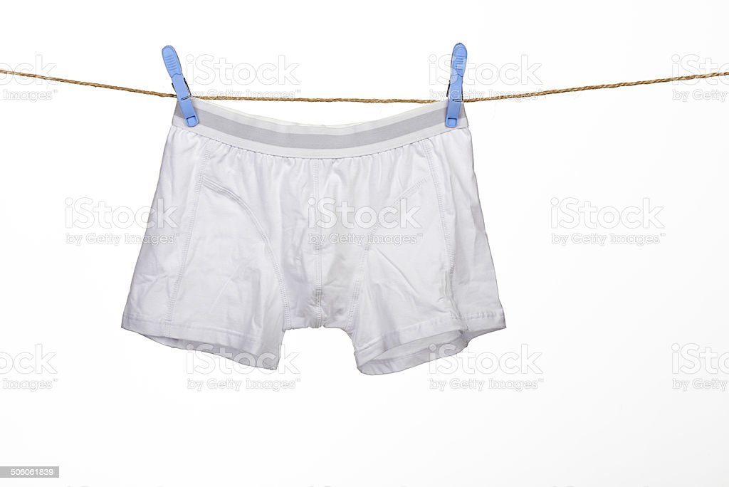 white underwear on a string stock photo
