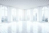 White unfurnished interior side