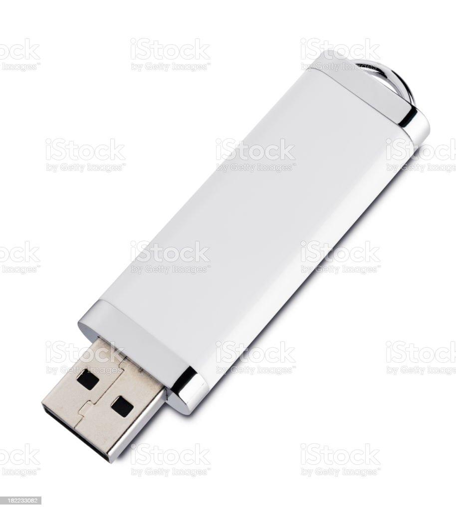 White USB key stock photo