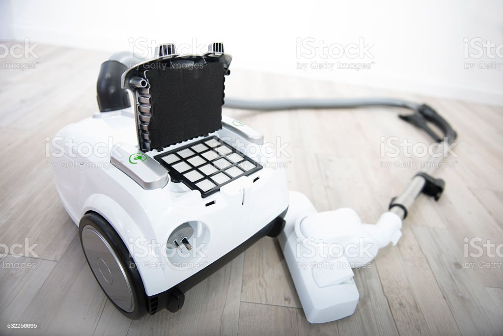 White vacuum cleaner. stock photo