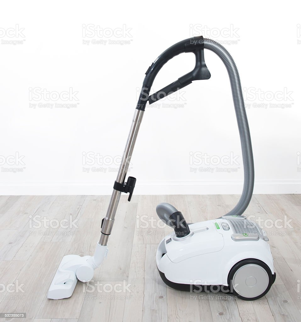 White vacuum cleaner stock photo