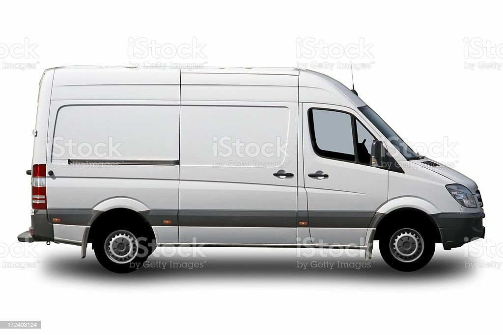 White Van Isolated royalty-free stock photo