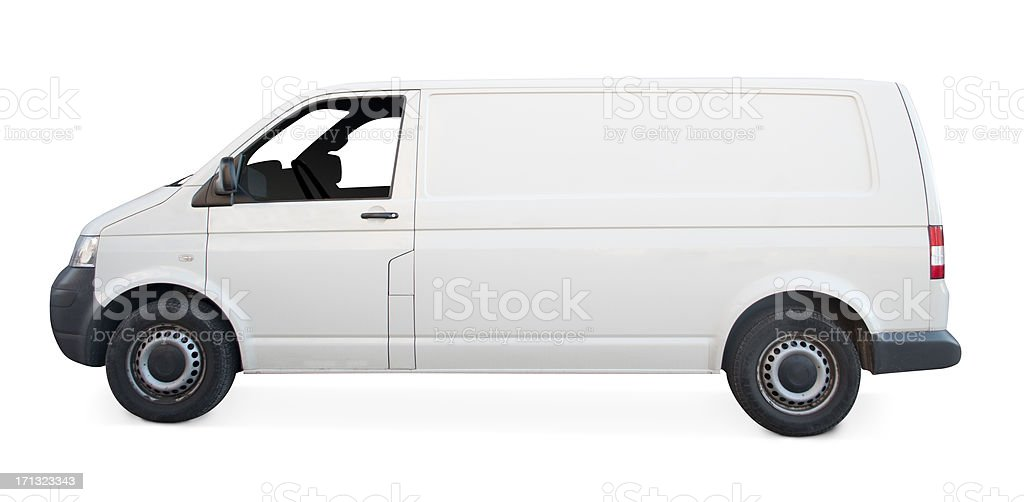 White van royalty-free stock photo