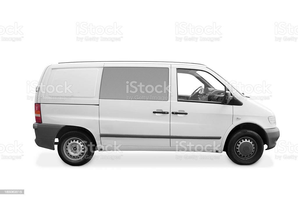White van royalty-free stock photo