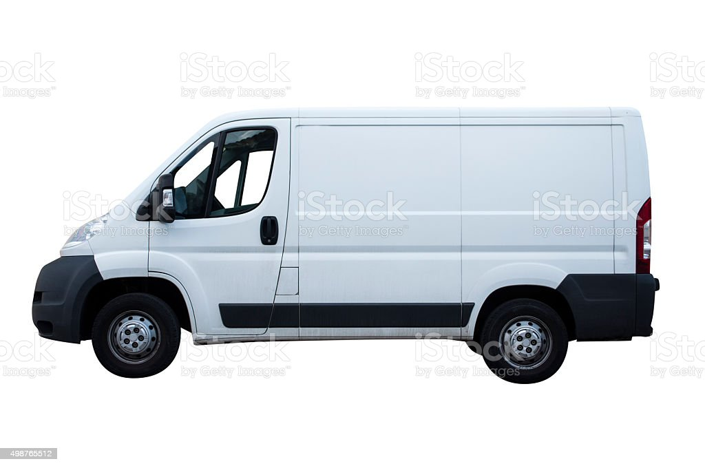 White van stock photo