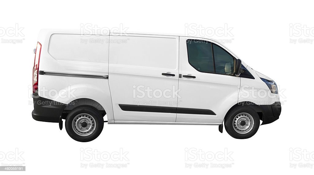 White Van - Ready For Branding stock photo