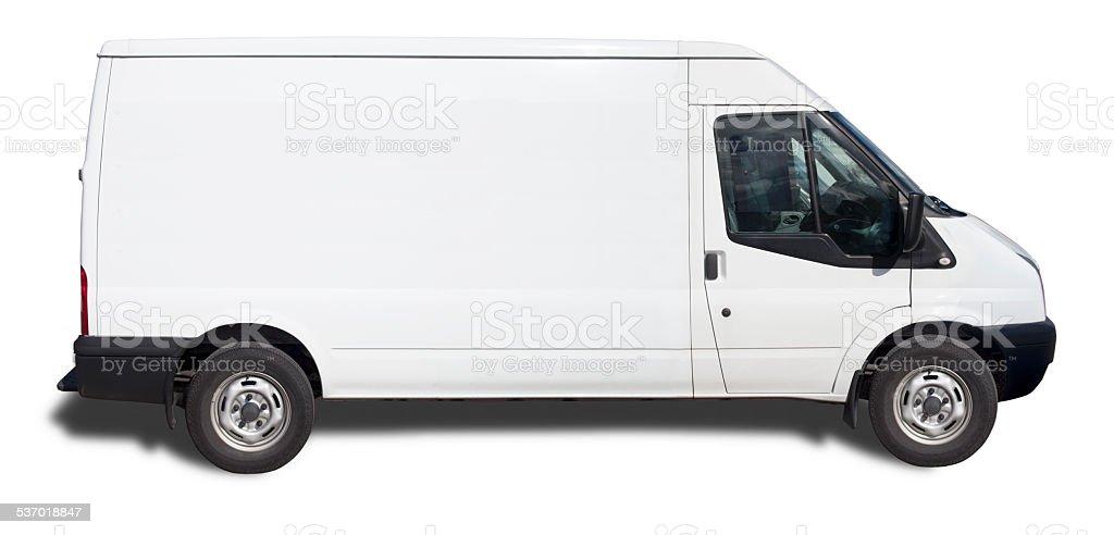 Bianco Van-pronto per il Branding (con Clipping Path) foto stock royalty-free