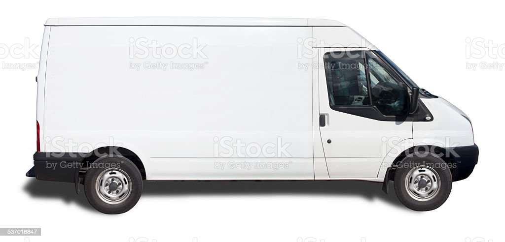 White Van - Ready For Branding (With Clipping Path) stock photo