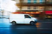 White van speeding in Paris