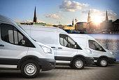 white vans in the city