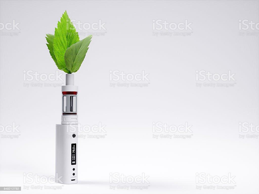 White vaping ecig battery mod. 3d rendering stock photo