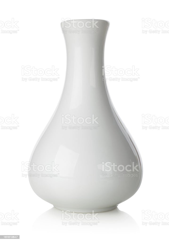 White vase stock photo