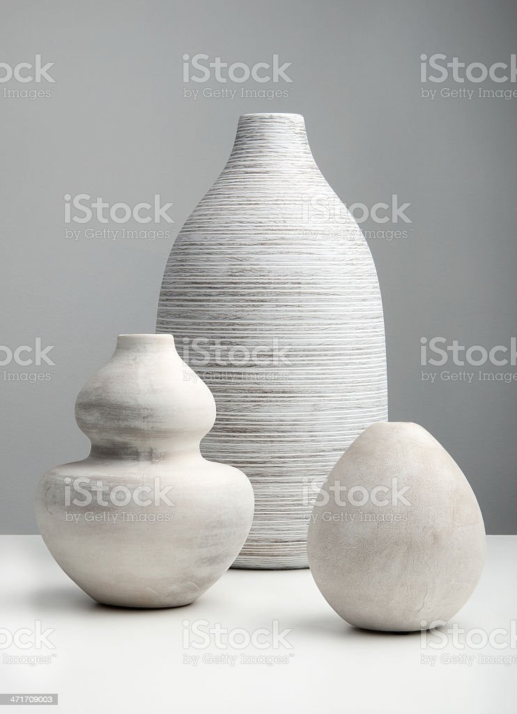 White Vases stock photo