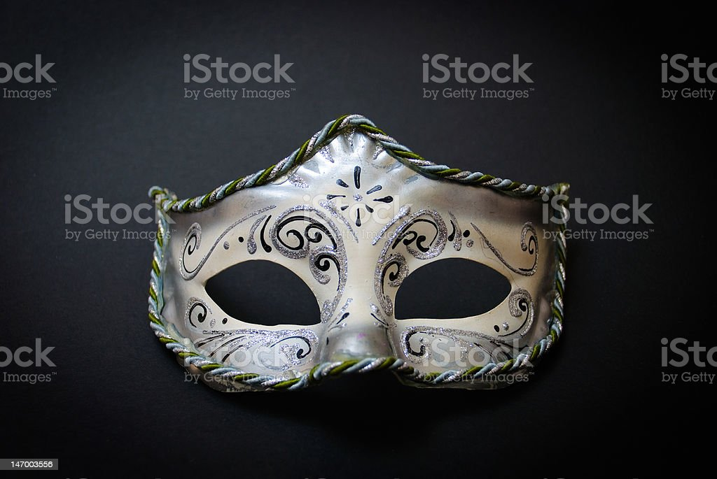 White Venetian Mask stock photo