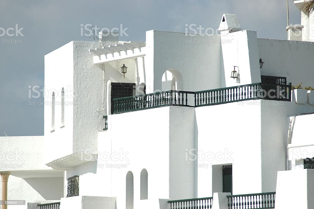 White Villa royalty-free stock photo