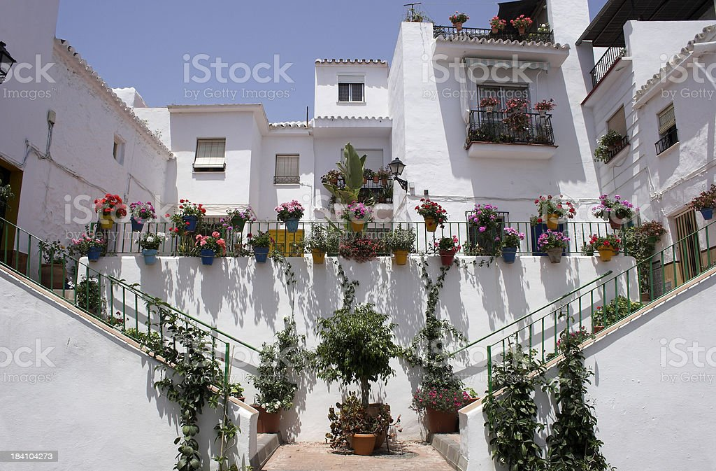 White village houses royalty-free stock photo