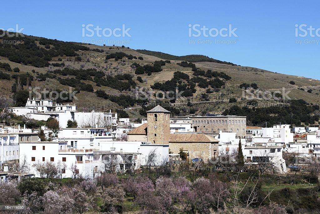 White village, Juviles, Andalusia, Spain. stock photo