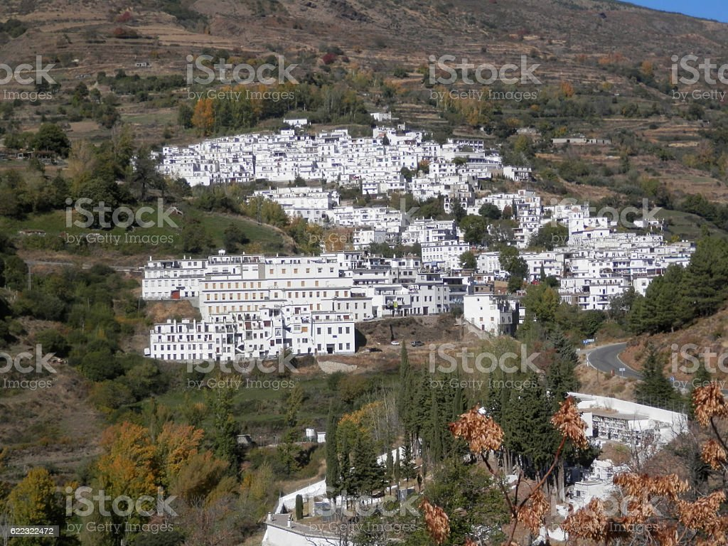 White village of Trevelez stock photo