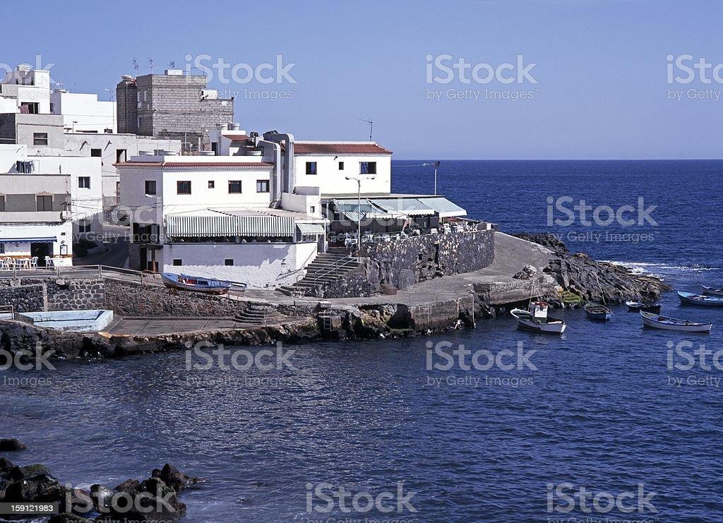 White village, Playa de los Abrigos, Tenerife. royalty-free stock photo