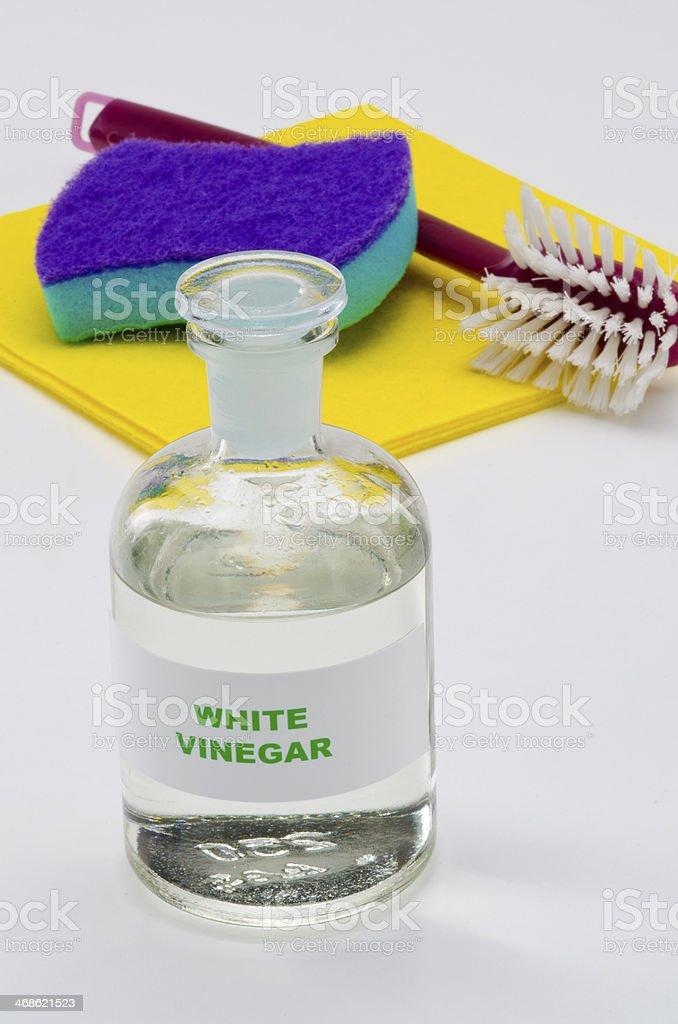 White vinegar stock photo