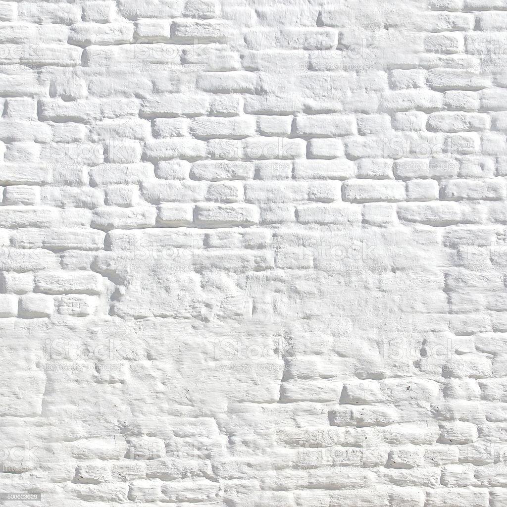 White Vintage Brick Wall royalty-free stock photo