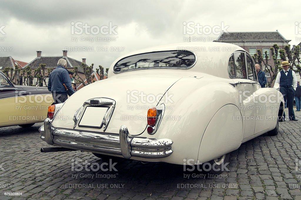 White Vintage Car stock photo