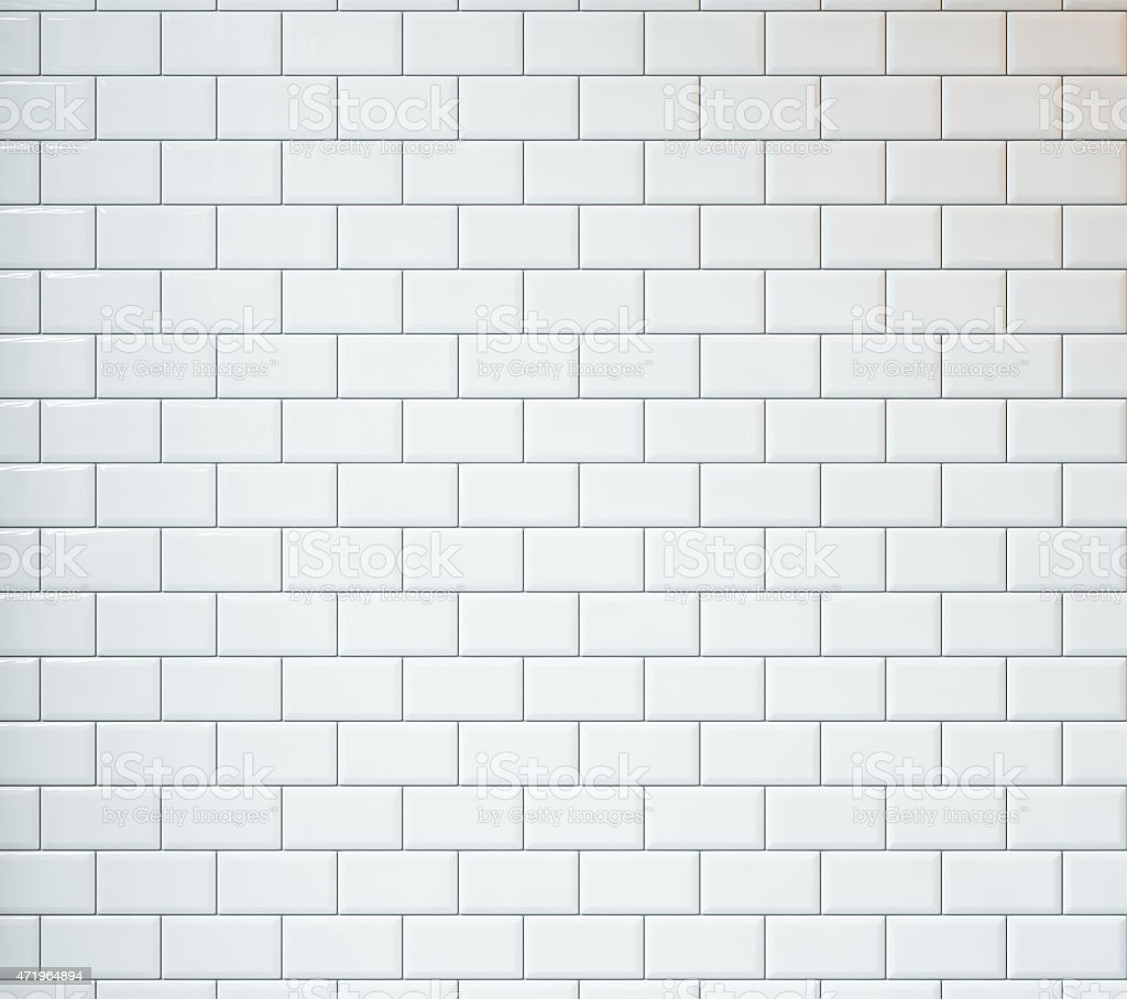 White vintage tiles background stock photo