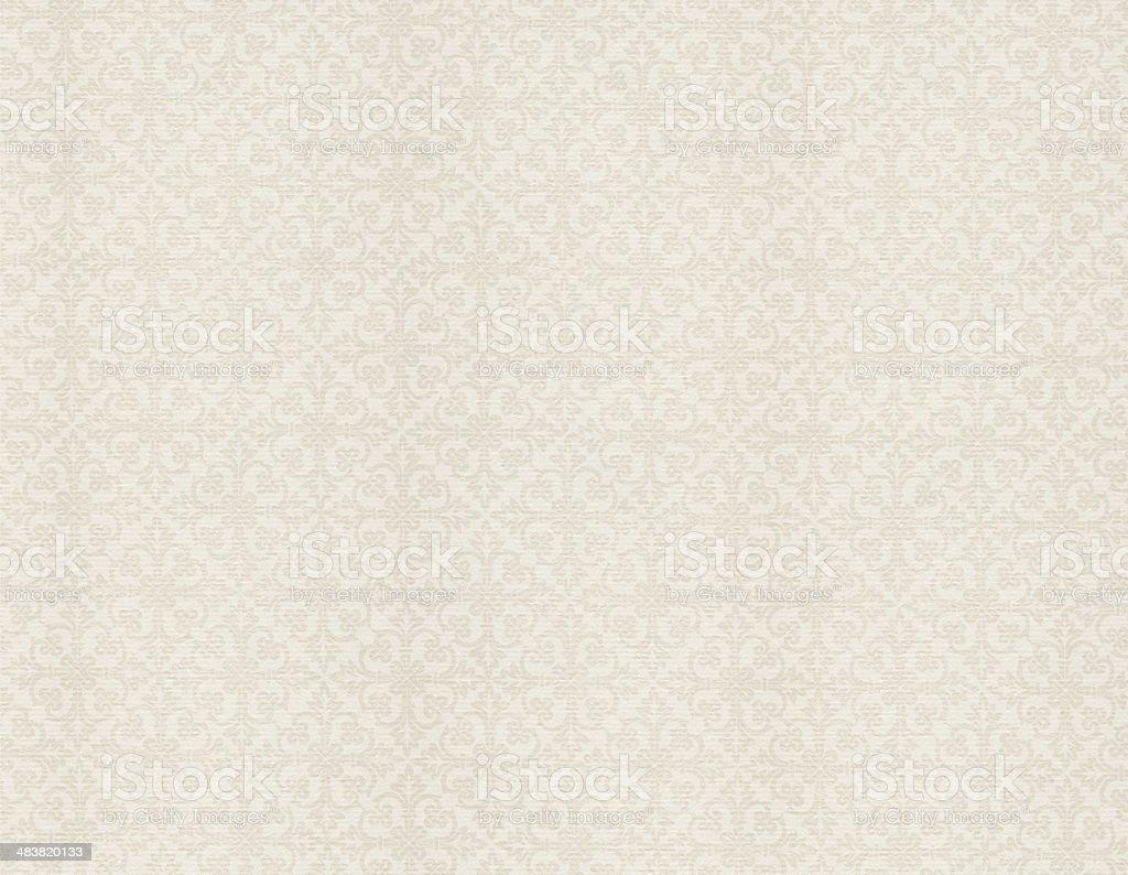 White Vintage Wallpaper royalty-free stock photo