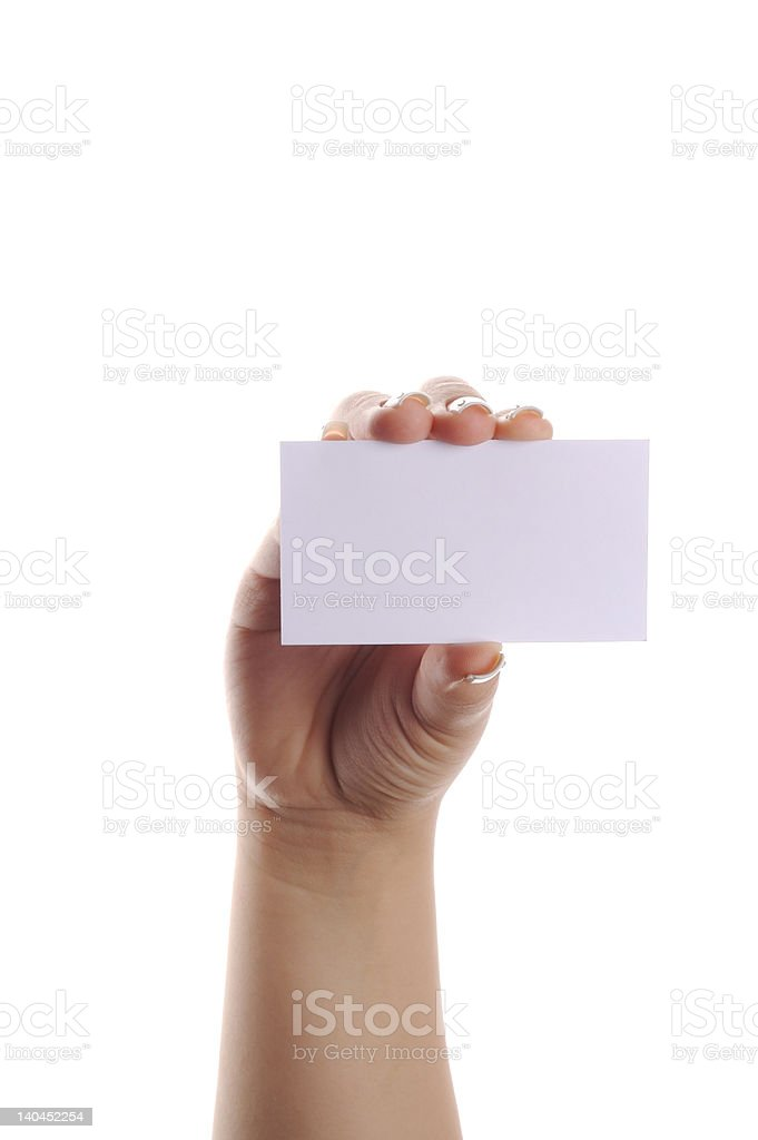 white visit card royalty-free stock photo