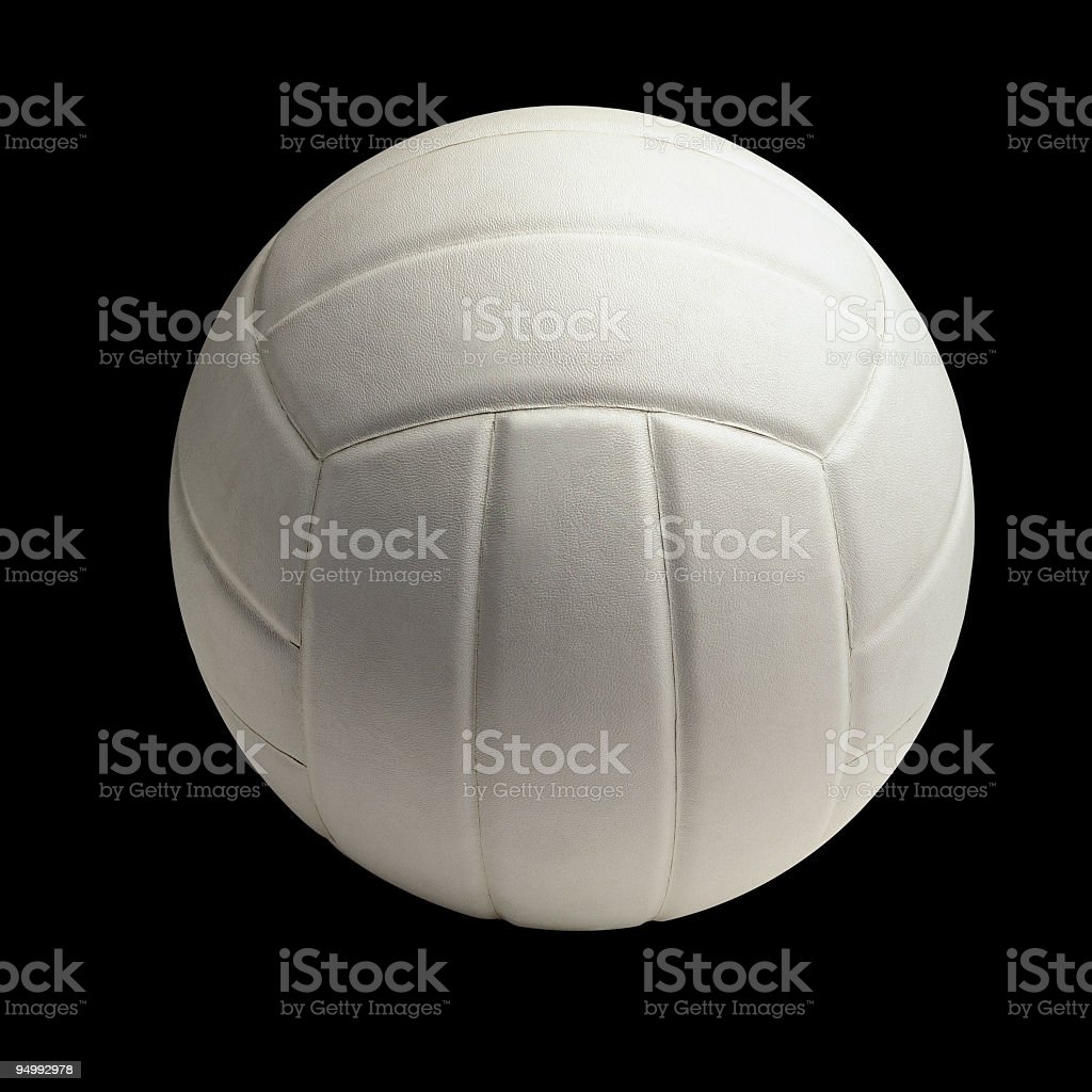 White volley ball on black background royalty-free stock photo