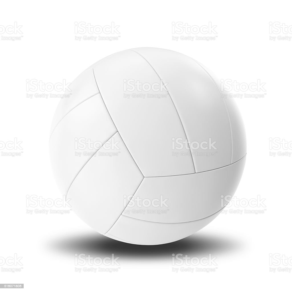 White Volleyball ball isolated on white background stock photo