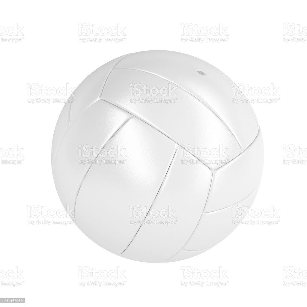 White volleyball ball stock photo