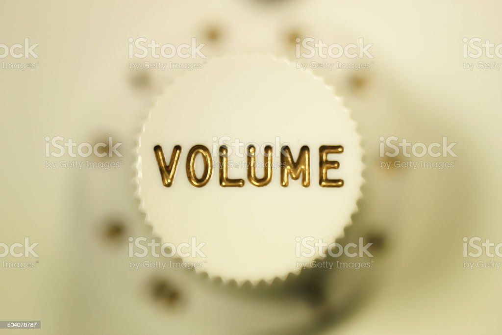 White volume knob stock photo