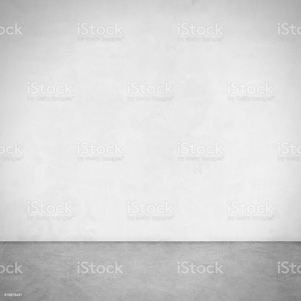 white wall and cement floor stock photo