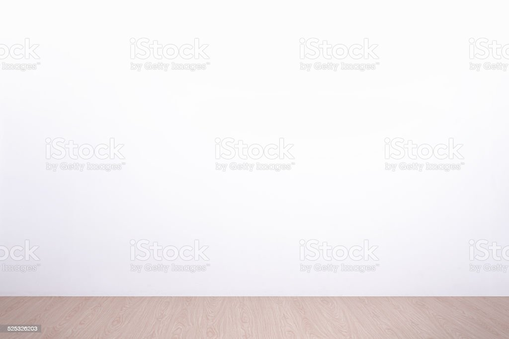 white wall and floor stock photo
