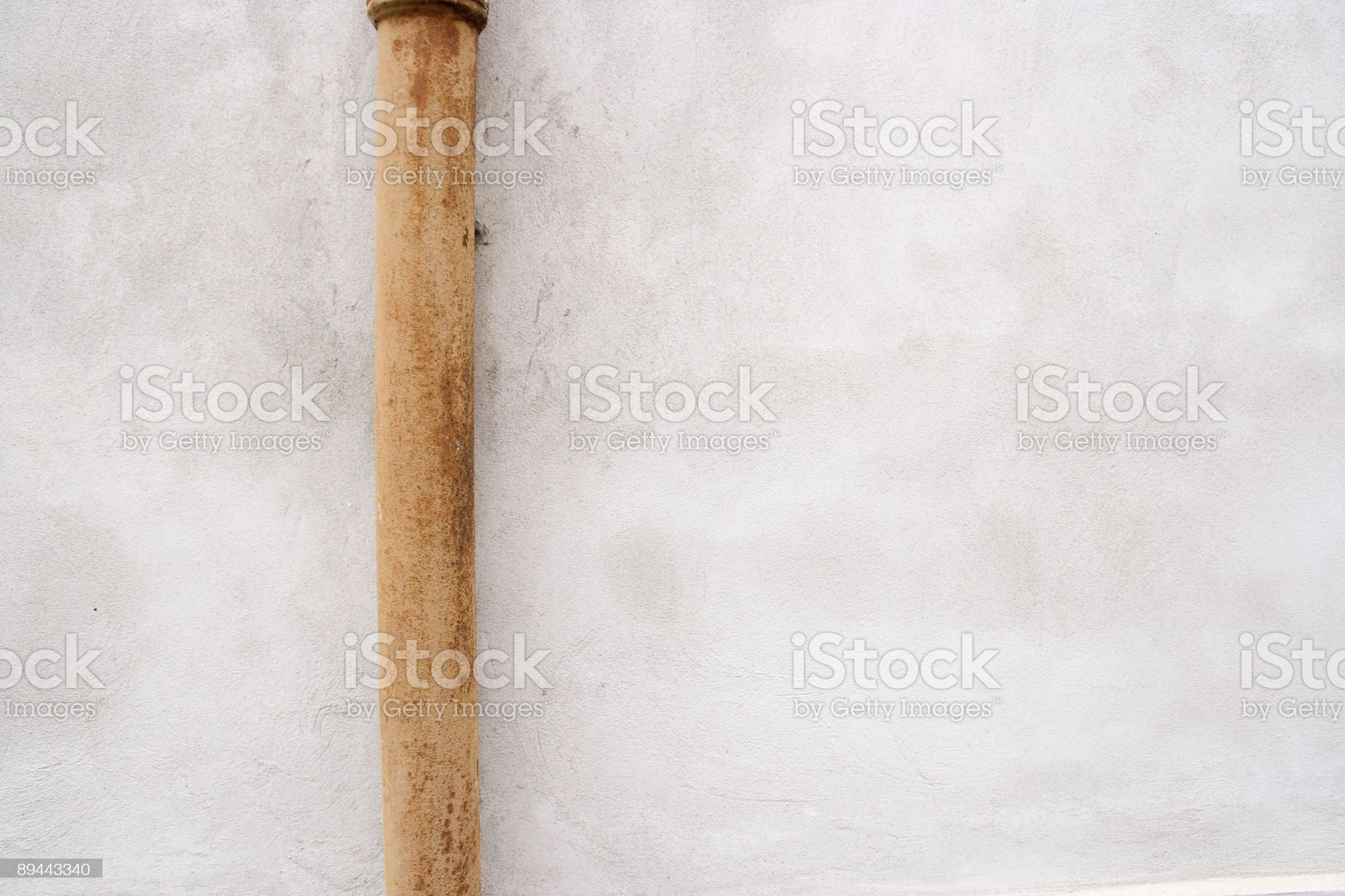 White wall and water pipe royalty-free stock photo