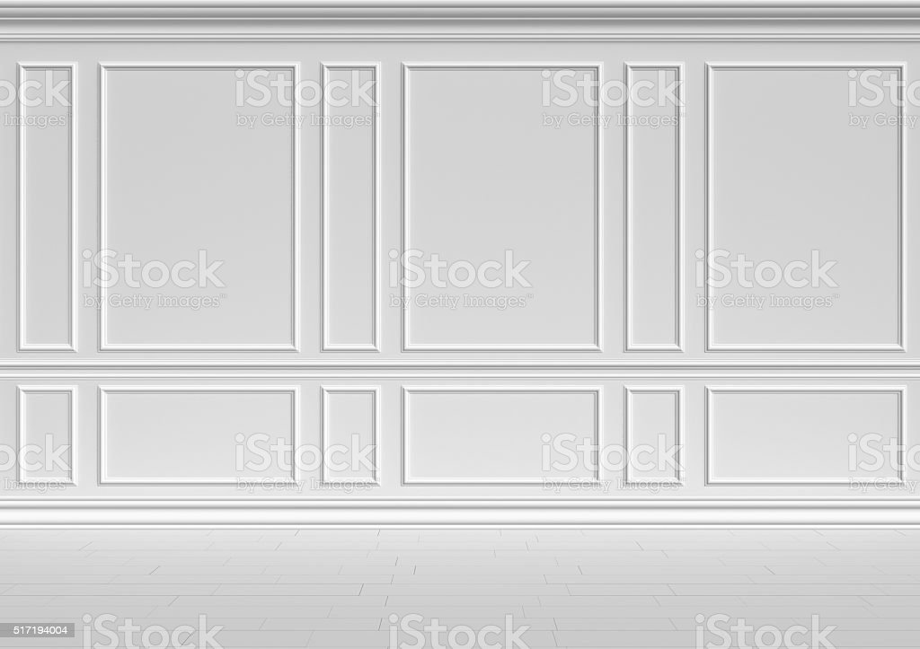 White wall classic style stock photo