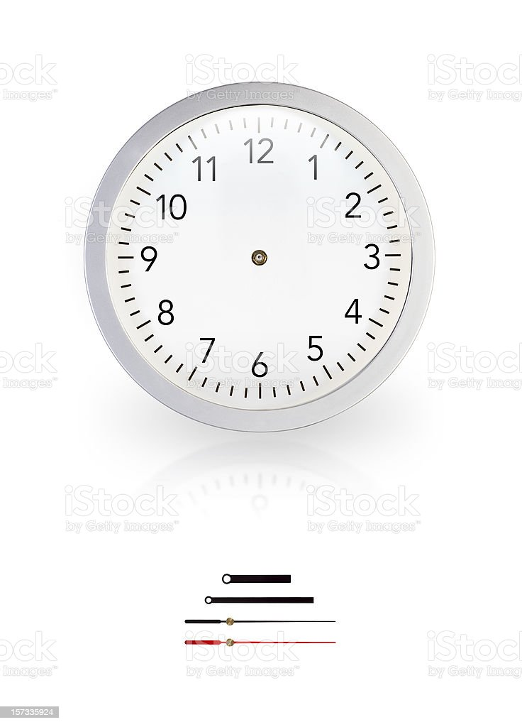 White wall clock without pointers stock photo
