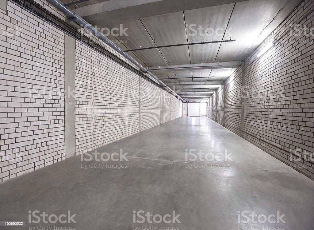 white wall  corridor to exit royalty-free stock photo