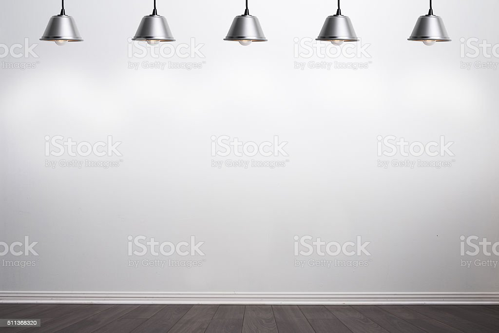White wall ready for your graphics stock photo