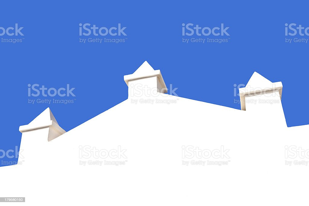 white wall with blue sky royalty-free stock photo