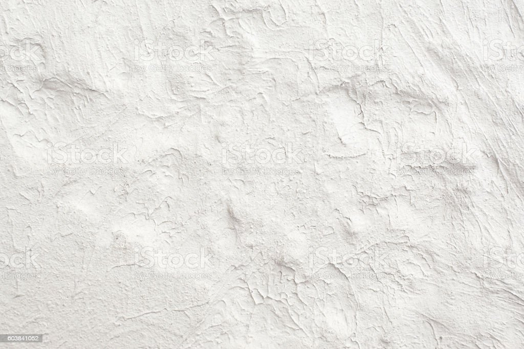 White wall with plaster pattern background stock photo