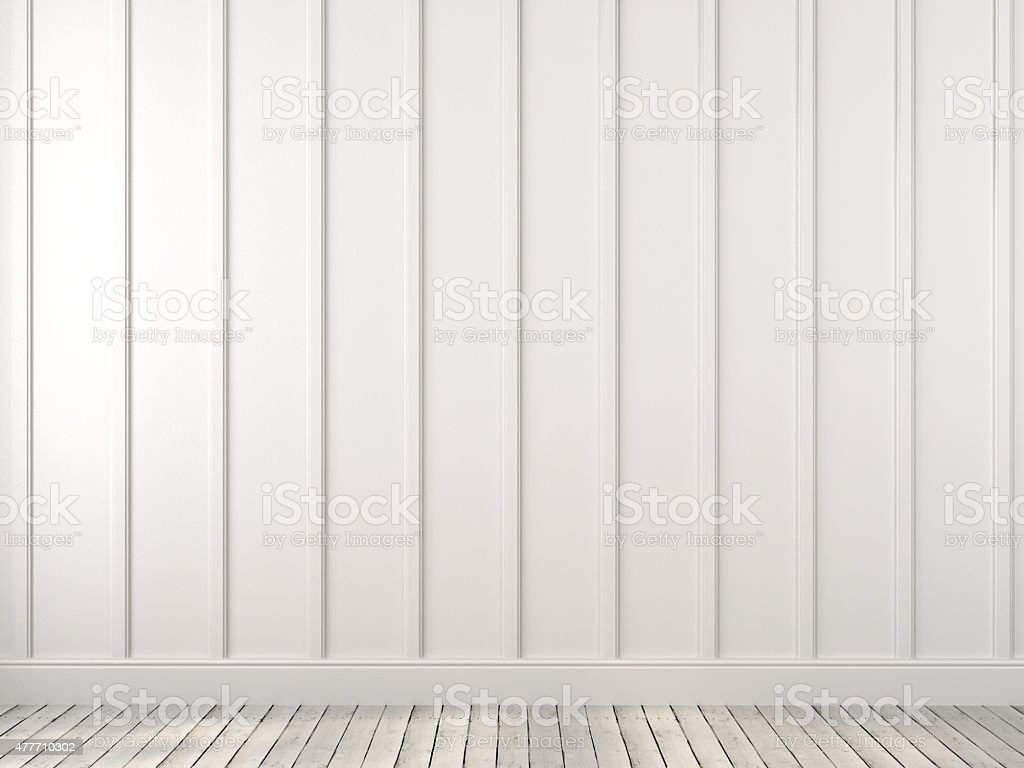 White wall with vertical stripes stock photo
