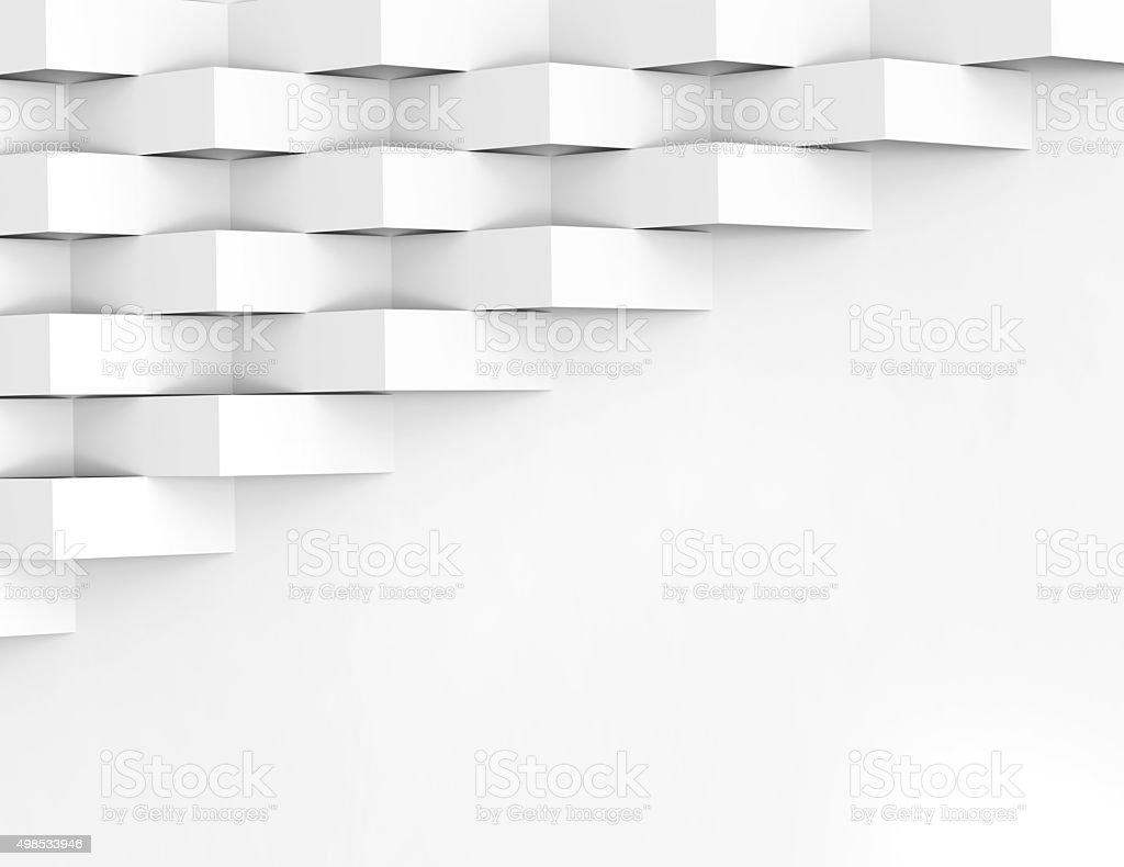 White wallpaper background for cover design 3d render stock photo