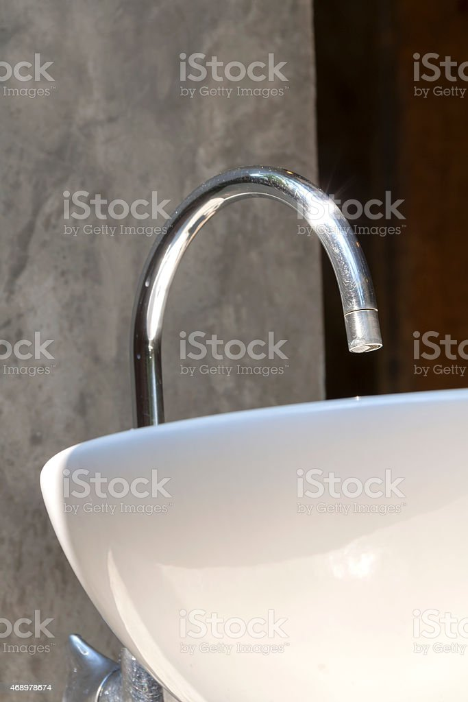 White washbasin from below royalty-free stock photo