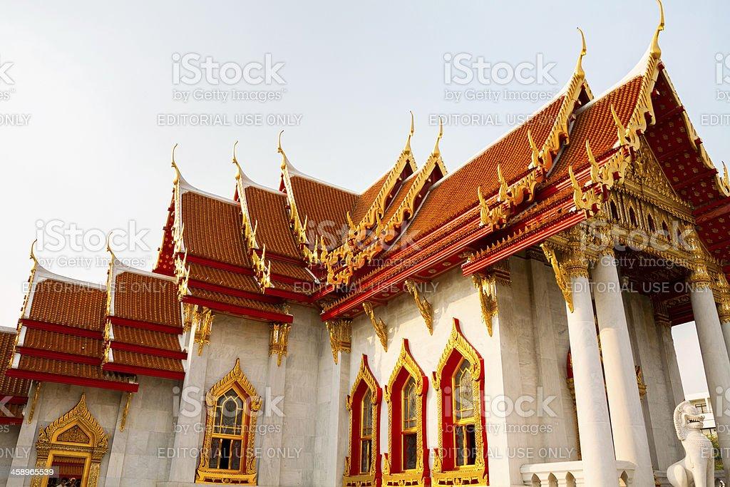 White Wat Benchamabophit royalty-free stock photo
