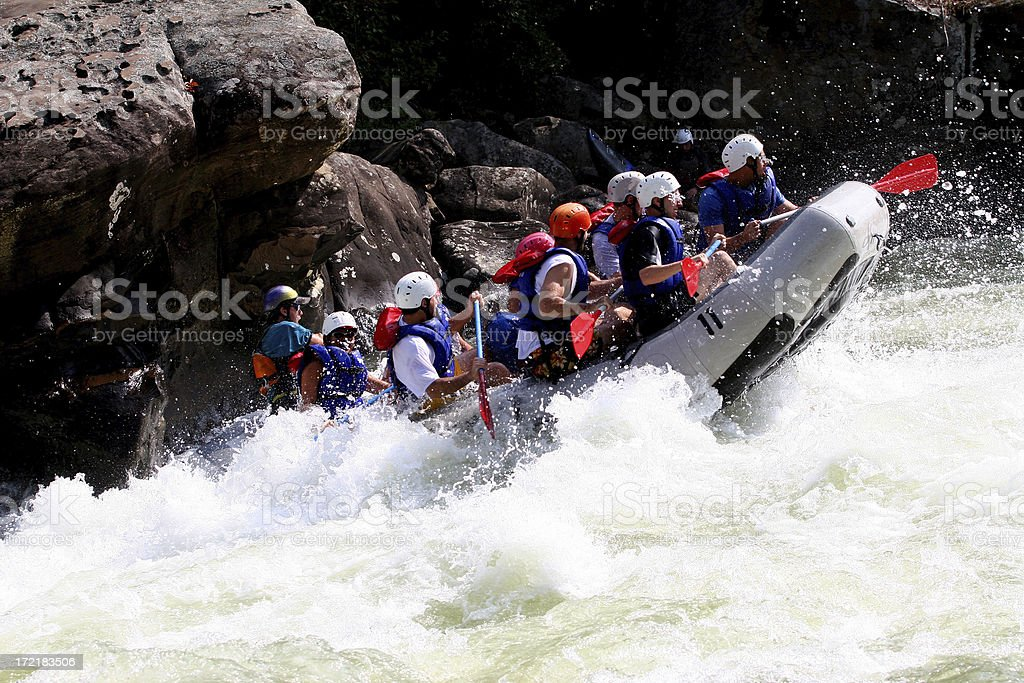 White Water Adventure royalty-free stock photo