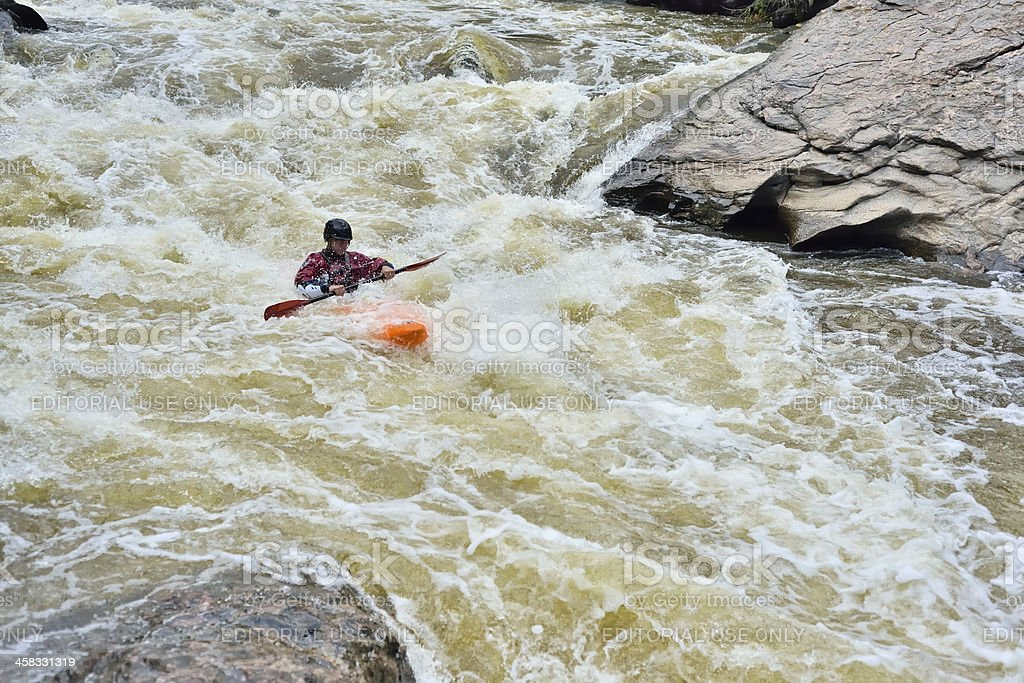 White Water Kayaking, Colorado royalty-free stock photo