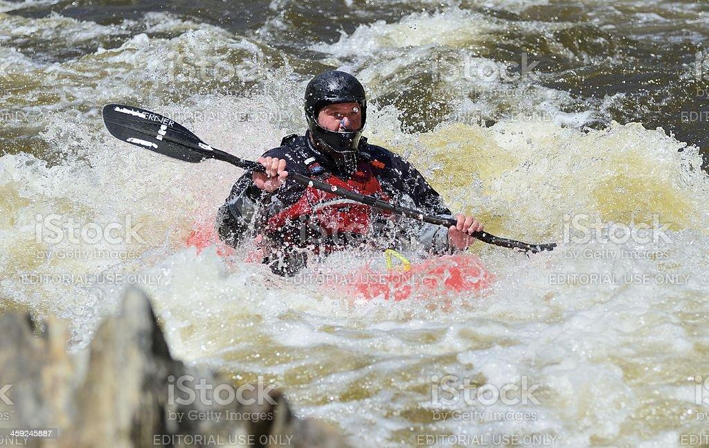 White Water Kayaking, Colorado royalty-free stock photo