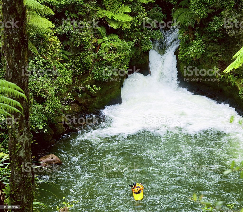 White water kayaking stock photo